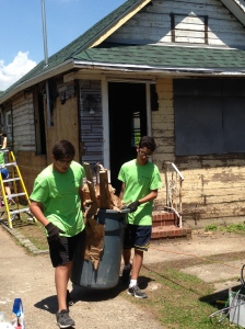 These teens had just torn the floor out of the house!
